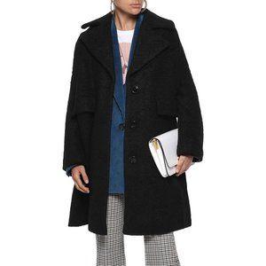 FLEURETTE Stand Collar Boucle Coat